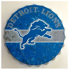 "Detroit Lions NFL Logo Bottle Top 13.5"" Hanging Wall Art Decoration"