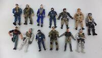 "Lanard The Corps Lot Of 13 4"" Action Figures 2003 Military  ( GI JOE TYPE )"