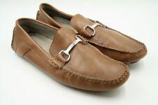Mens Calvin Klein Brown Leather Slip On Dress Loafer Size 10