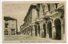 ALBA CUNEO PIAZZA UMBERTO I VIA ROMA ALBERGO SAVONA VIAGGIATA ANIMATA 1936