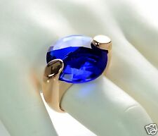 Bronzo Italia Bold Faceted Solitaire Ring Size - 6