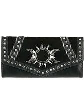 Restyle Gothic Nugoth Sonne Mond Moon Goddess Sun Witchy Geldbörse Wallet Hexe