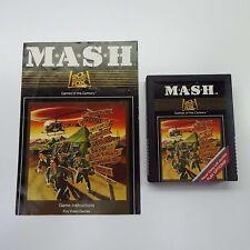 MASH 20th Century Fox (Atari 2600, 1983) w/ manual Instructions Video Game (D180