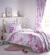 Girls bedding pink fairy princess duvet cover bed sets matching curtains option