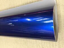 BLUE Carbon Fiber matte Gloss Vinyl Film Car Wrap DIY Waterproof 30cm x 1.52m