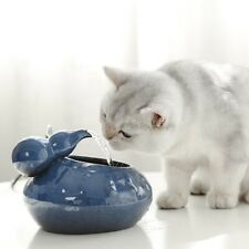 Pet Ceramic Automatic Electric Water Fountain Drinking Bowl Tank Dog Cat Drinker