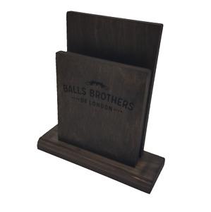 Personalised Wooden Menu Holder - Milton