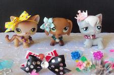 Littlest Pet Shop LPS RANDOM Lot of 9 Custom Bows Necklace & Earrings    #8-3