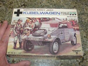 RARE KUBELWAGEN German army jeep model 1 32 JAPAN  OKANO scale toy w box WWII