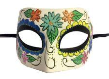 Half Eye Mask Flower Design Mardi Gras Halloween Costume Accessory Adult Women A