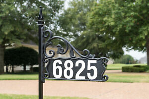 "Boardwalk Reflective 911 Home Address Sign for Yard--48"" Pole--Numbers Included"