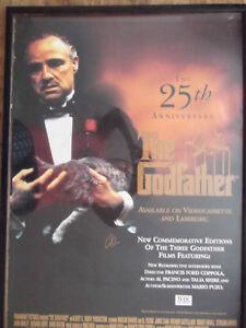 Al Pacino Signed 25th Anniversary Godfather Original UK One Sheet Movie Poster
