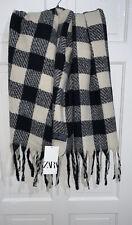 New ZARA  Ladies Grey Checked SOFT TOUCH Scarf Ref 0653//244 bnwt