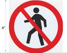 No Passing Vinyl Sticker Decal Warning Safety Sign Store Office Building Home #2