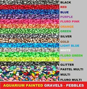 Aquarium Decorative Painted Gravel Pebbles Stones Fish Tank Aquascape Terrarium