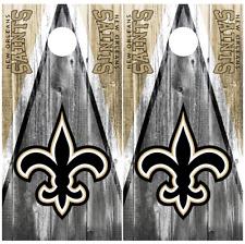 New Orleans Saints Cornhole Board Wraps Skins Vinyl  HIGH QUALITY!