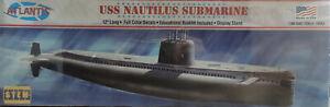 USS NAUTILUS SUBMARINE ATLANTIS 1:300 SCALE PLASTIC MODEL SUBMARINE KIT