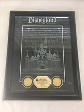 Disneyland Opening Day 1955 Limited Edition Gold Coins Castle Etching LE #0317