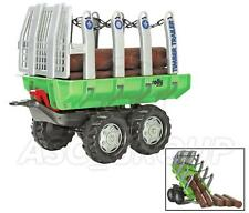 Rolly Toys - Timber Logging Tree felling Twin Axle Trailer with Logs