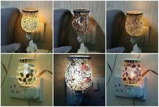 Mosaic Electric Plug In LED Aroma Diffuser Lamp Wax Melt Oil Burner Wax Warmer