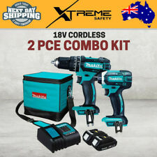 New Makita 18V Cordless 2 Piece Tools Combo Kit Hammer Drill and Impact Drill