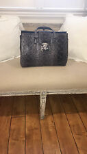 Gucci Blue Python designer handbag in excellent condition