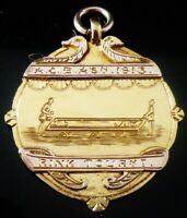 Rare 9ct Gold Scottish Provincial Carpet Bowls Association Fob Medal AYR J Lyall