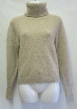 WOMENS VINCE 100% CASHMERE TURTLENECK BEIGE SWEATER SIZE SMALL