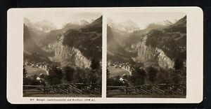 18.STEREOVIEWS>SWITZERLAND/SCHWEIZ<WANGEN, Lauterbrunnental und Breithorn (3779m