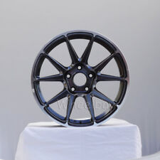 NEW 4 ROTA WHEEL STW 17X8 5X100 44 73 ROYAL HYPER BLACK TC VW  STI