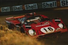 Chris Craft Hand Signed Ferrari Le Mans 12x8 Photo 1.