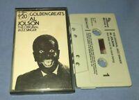 AL JOLSON THE ORIGINAL JAZZ SINGER 20 GOLDEN GREATS cassette tape album T8834