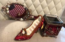 Handbag Mirror with Red Shoes /& Crystals XHM705RS