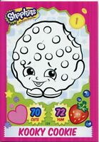 Topps Shopkins Series 1-4 Trading Cards Base Card #134 Kooky Cookie
