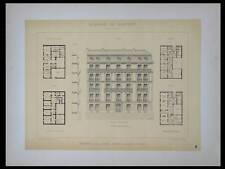 PARIS, 2 BIS RUE DE LA BAUME - 1895 - GRANDE LITHOGRAPHIE- GOURY, ARCHITECTURE