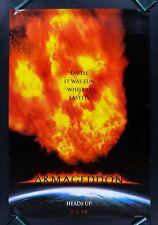 ARMAGEDDON * CineMasterpieces ORIGINAL ADV TEASER DS MOVIE POSTER 1998