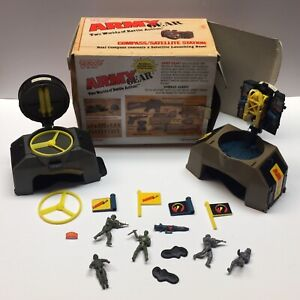 VINTAGE 1988 GALOOB ARMY GEAR COMPASS /SATELLITE Watch / Missile Troops Box Lot