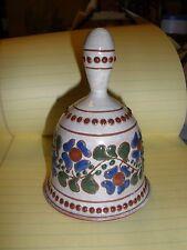 """Original W Geisler """"Redware Art"""" Pottery Bell"""