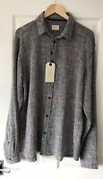 MENS SELECTED HOMME FROM ASOS GREY MIX SHIRT TOP XL EXTRA LARGE NEW