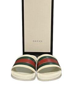Genuine Gucci Pursuit '72 Rubber Sliders in White UK Size 9 EU 43 RRP £210