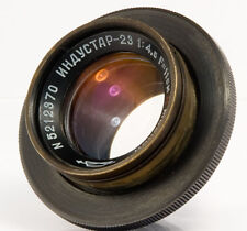 INDUSTAR-23 11cm 110mm f/4.5 USSR Tessar 6x9 lens Moskva-2 Moscow camera Red P