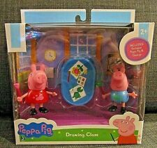Peppa Pig Drawing Class Figure Set New
