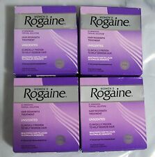 ROGAINE FOR WOMEN 12 MONTH ( 4 x 3) TOPICAL SOLUTION 2% MINOXIDIL UNSCENTED 2019