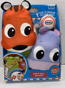 LITTLE TIKES Catch N' Stick Toss Game Set Animal 2 Soft Mitts & Baseball AGE 2+