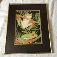 Signed numbered limited edition Red Tree Frog Print excellent 100 out of 250