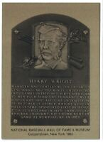 HARRY WRIGHT Hall of Fame METALLIC Plaque Card