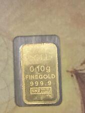 1 x Goldbarren 0,1g 999,9 Nadir Gold
