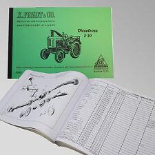 Fendt Ersatzteilliste für Dieselross F 20 Traktor Schlepper 20001