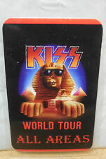 "KISS BACKSTAGE PASS ""HOT IN THE SHADE WORLD TOUR"" AUTHENTIC - GENE SIMMONS"