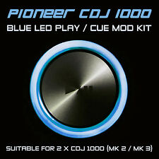PIONEER CDJ 1000 MK2 / MK3 BLUE PLAY or CUE LED MOD KIT (FOR 2 x CDJS) DJM DDJ